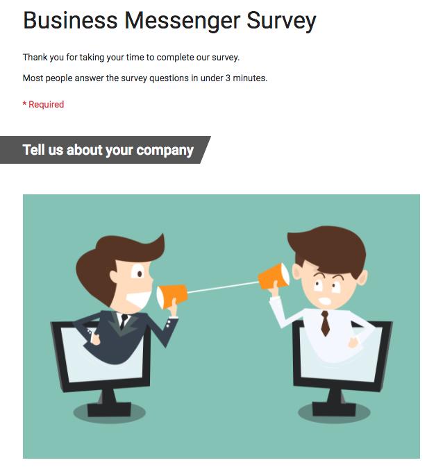 business messenger survey