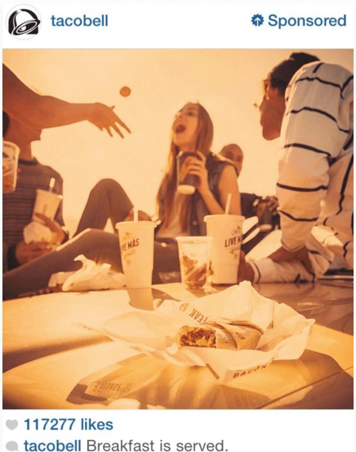 Breakfast TacoBell Ad Insta