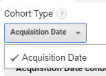 cohort type acquisition date