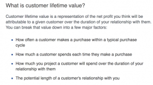 Customer Lifetime Value Explanation