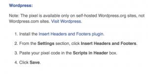 WordPress Pixel Installation