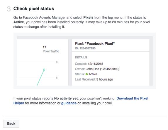 Check Pixel Status Facebook Ads