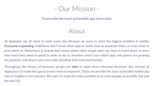 Apptopia Mission