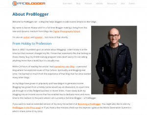 About ProBlogger
