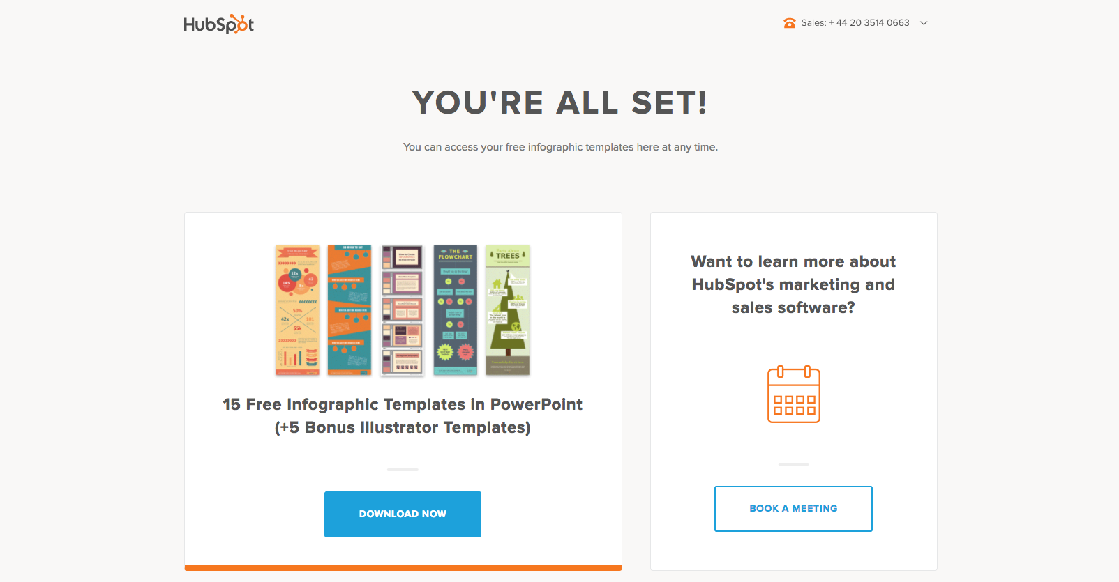 Hubspot Infographics all set