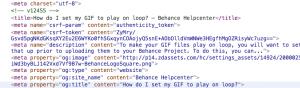 Behance FAQs meta title tag