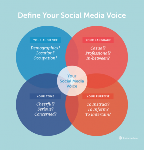Define your social media voice