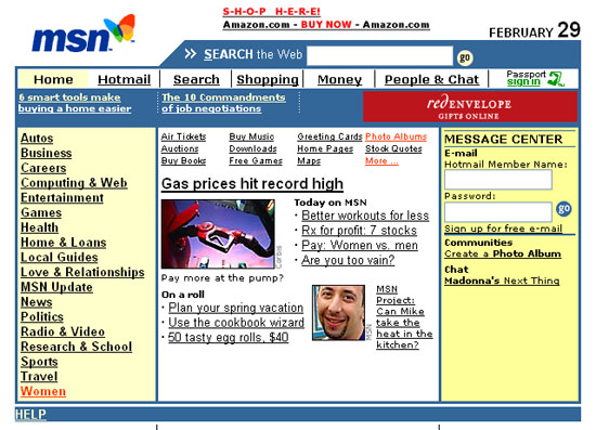the Internet in the year 2000