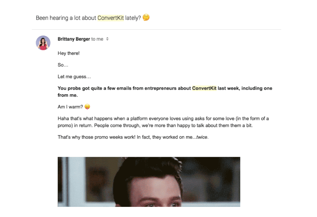 Convertkit email