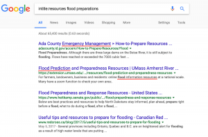 intitle resources flood preparations