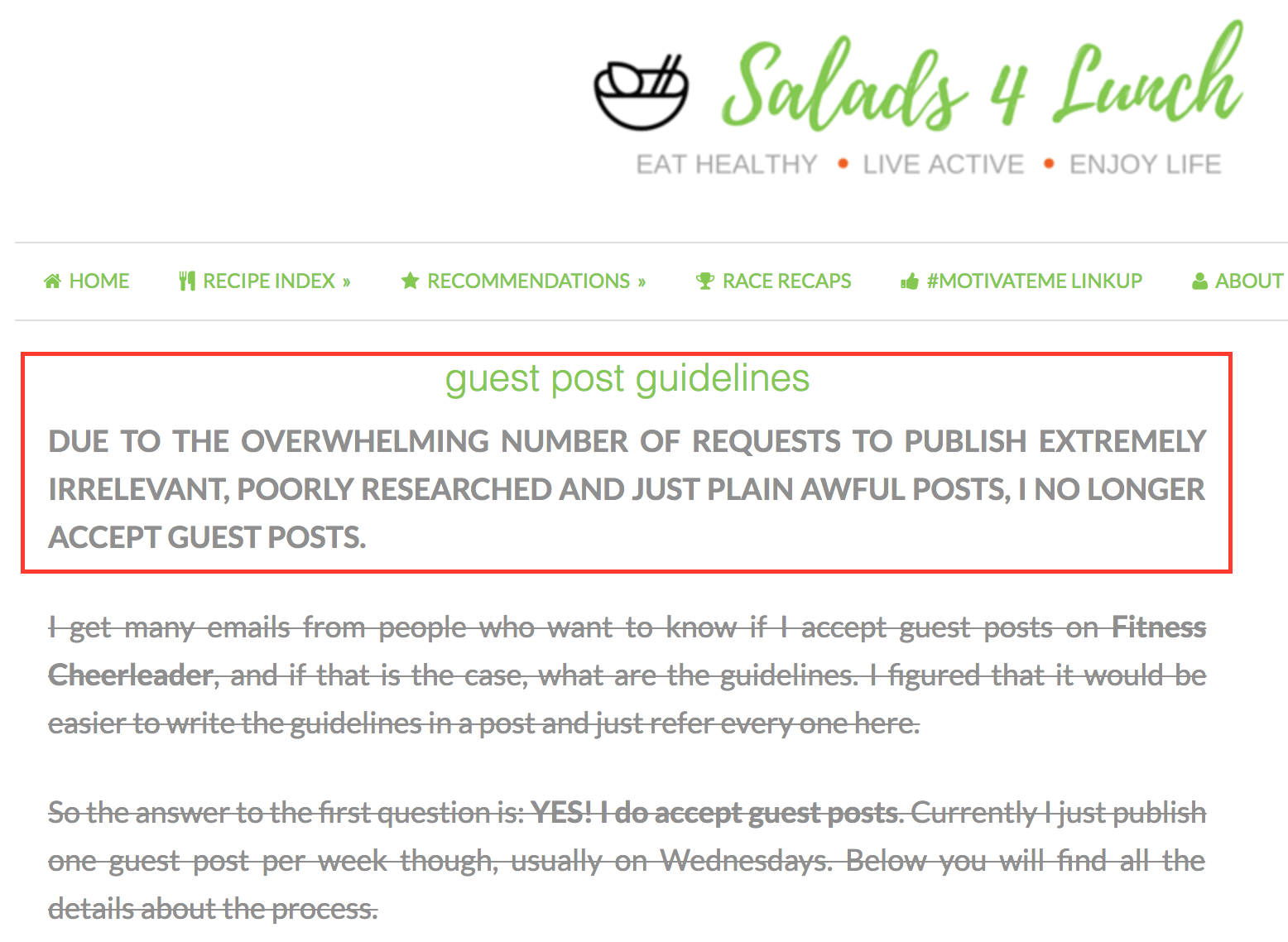 Salads 4 lunch guest post guidelines