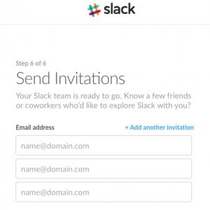 Slack invitation