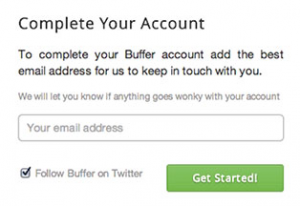 Buffer complete your account