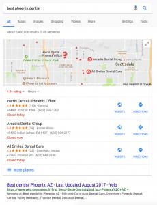 Yelp organic google search