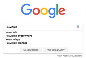 Google search keywords