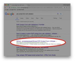 Github google search