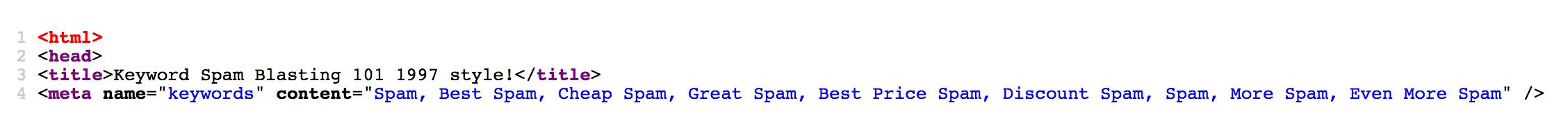 meta keyword spam example