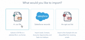 what would you like to import