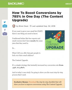 Blog design for conversions