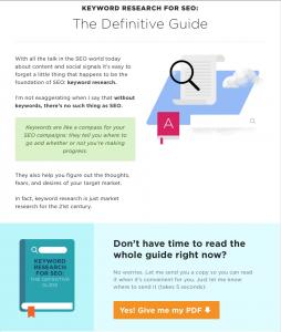 Content upgrade, blog design