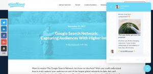 blog design, using intercom for conversions