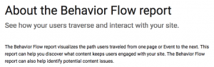 about the behavior flow report
