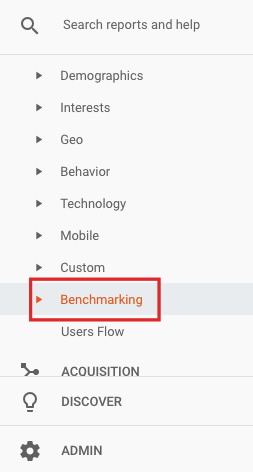 selecteer benchmarking