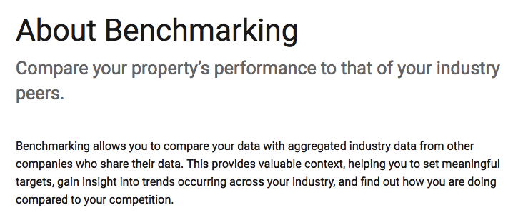 Google defines benchmarking