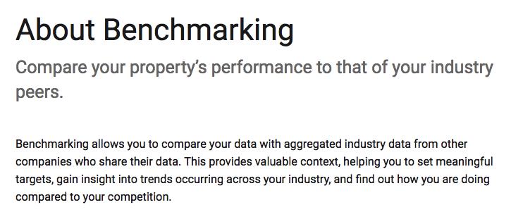 Google definieert benchmarking