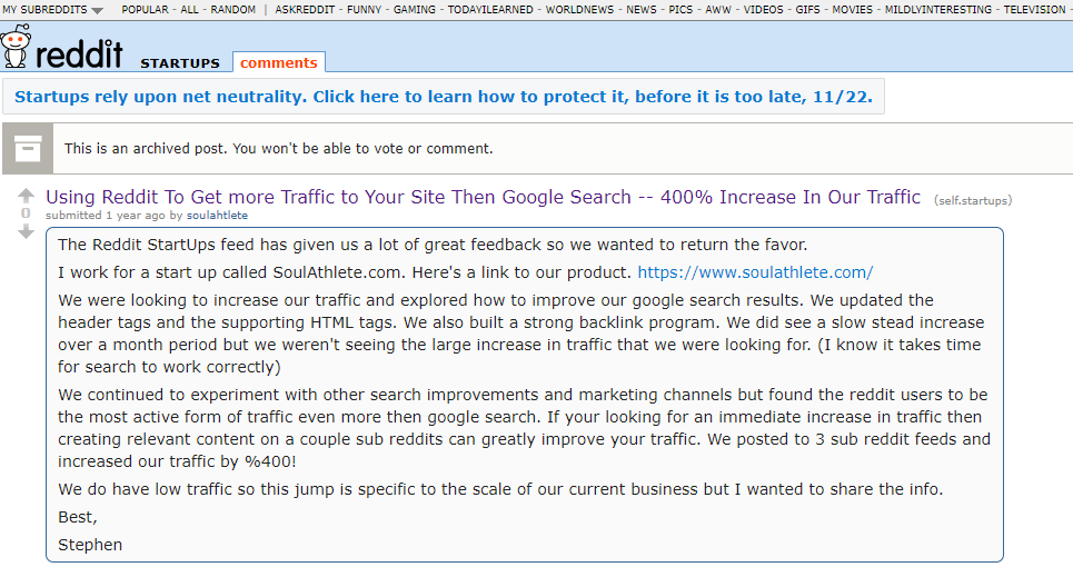 Using Reddit to get more traffic