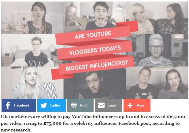 Are YouTube vloggers todays biggest influencers