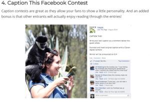 Caption this Facebook contest