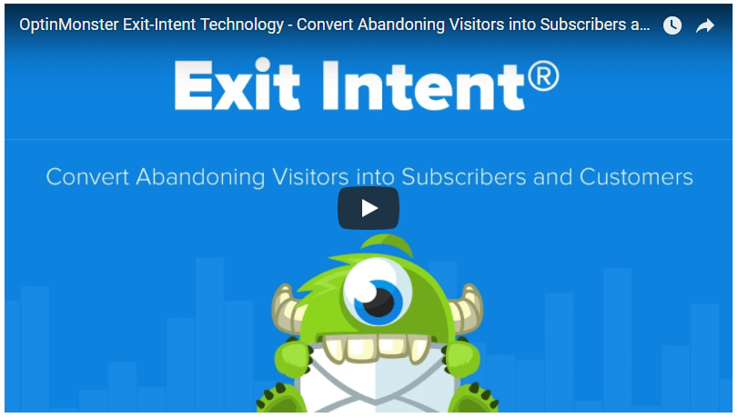 OptinMonster exit intent