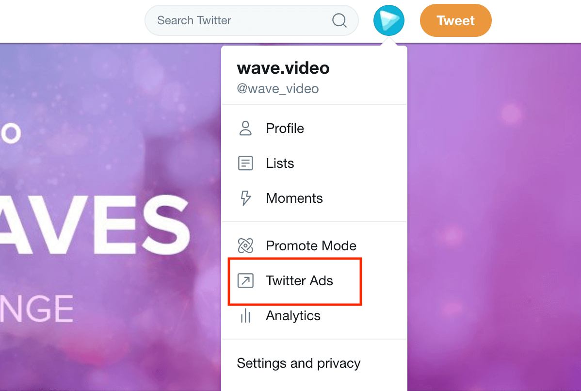 Wave Twitter Ads