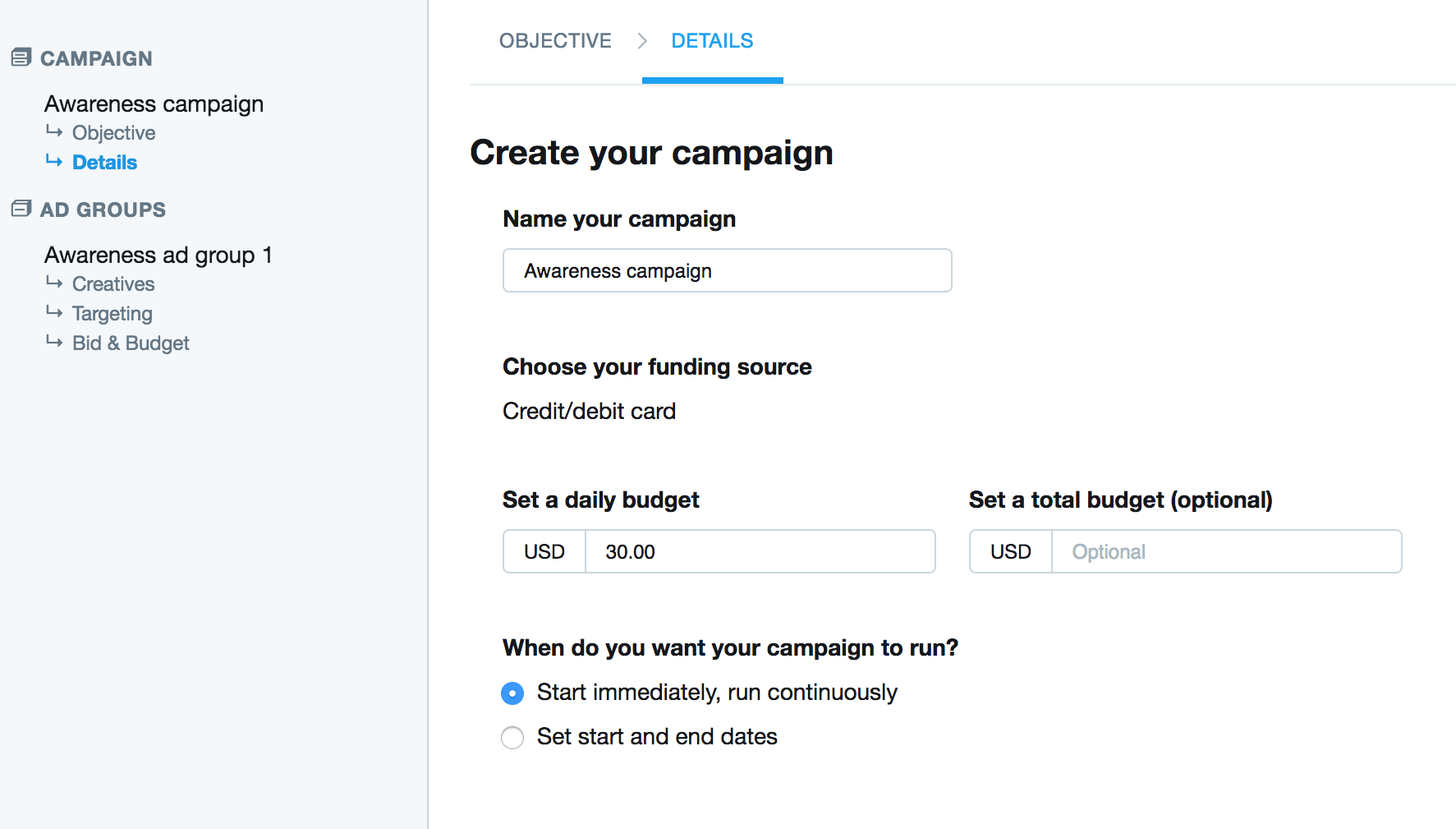Create Your Campaign