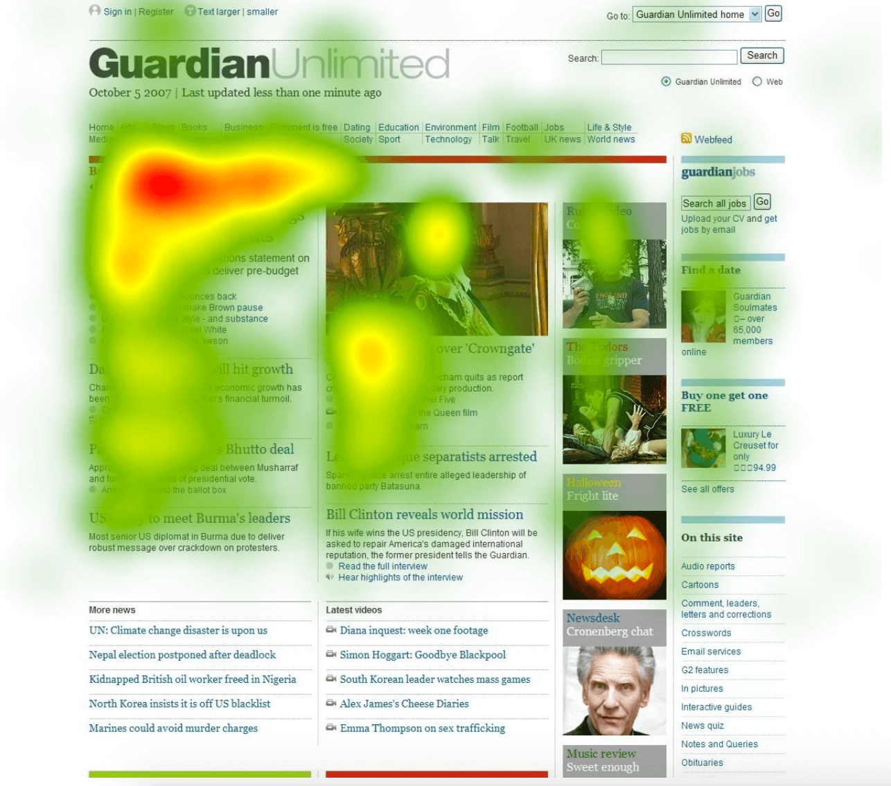 Guardian Unlimited Heatmap