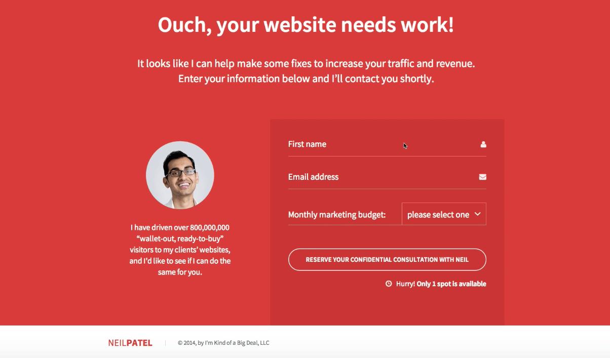 ouch je website heeft werk nodig
