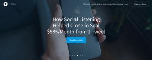 Social listening 1 Tweet