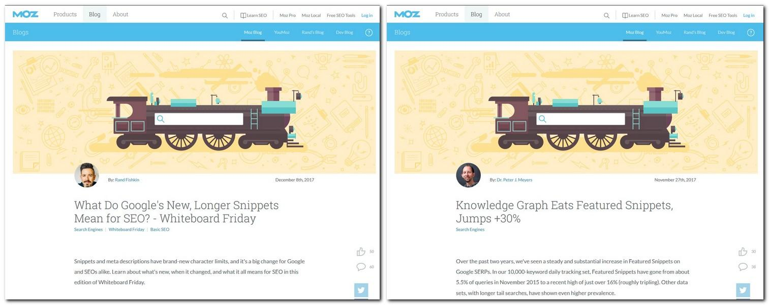 MOZ blog side by side