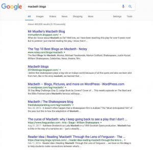 macbeth blogs