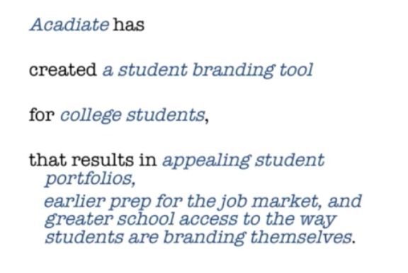 Acadiate created a student branding tool
