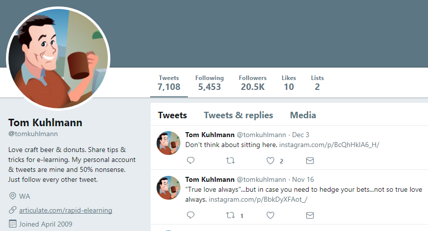 Tom Kuhlmann Twitter Profile