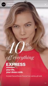 40 percent off express