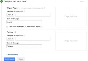 configure your experiment