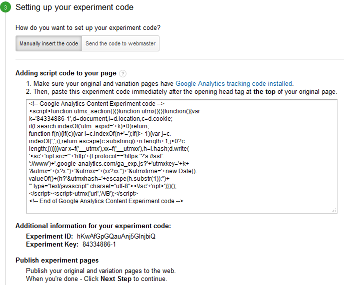 setting up your experiment code