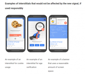 Examples of Interstitials that would not be affected by the new signal