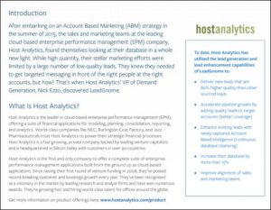 host analytics intro