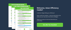 welcome asian efficiency reader