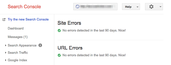 google index tool crawl errors 90