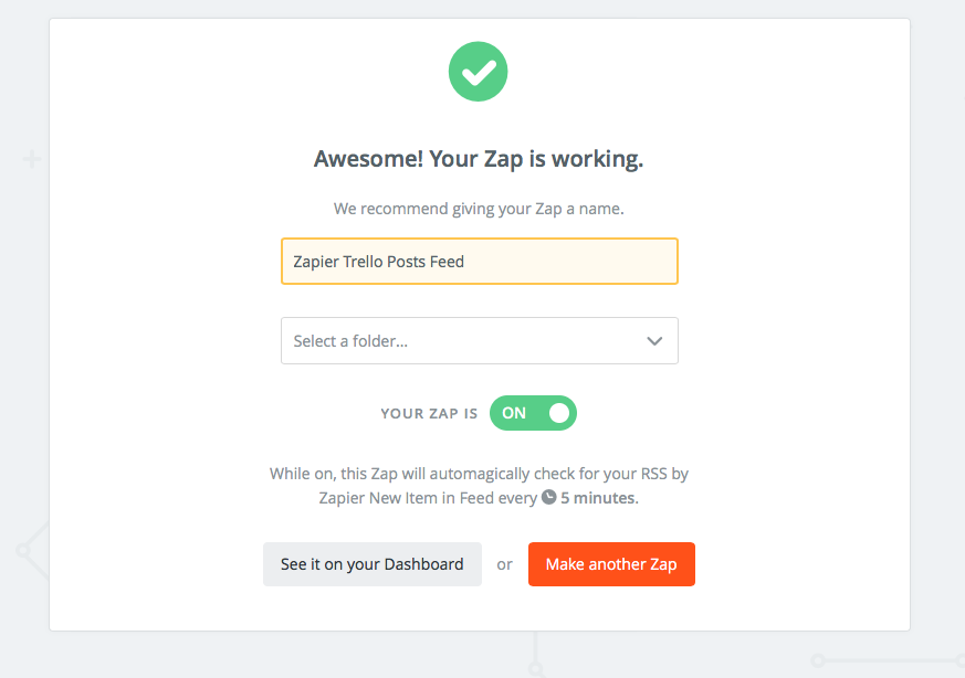 zap working